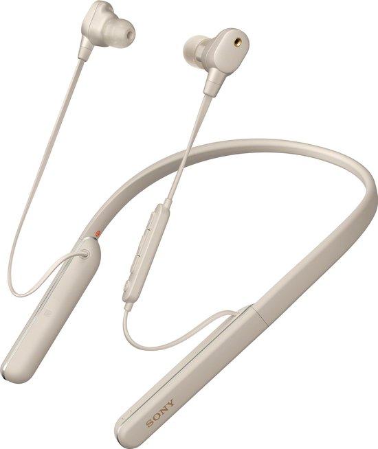 Sony WI-1000XM2 - Noise cancelling oordopjes met nekband - Zilvergrijs