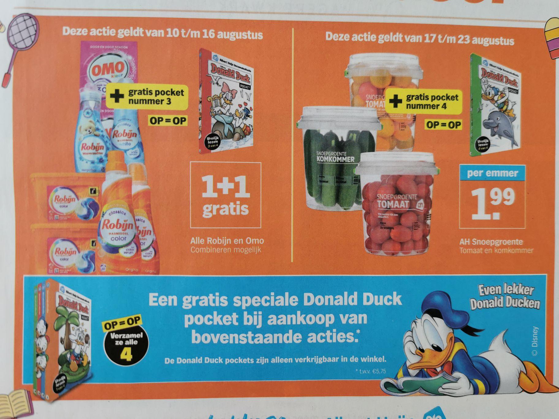 Gratis Donald Duck pocket (twv € 5,75) bij aankoop van deelnemende actie @Albert Heijn