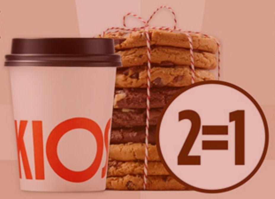 2e warme drank en 2e cookie gratis @KIOSK