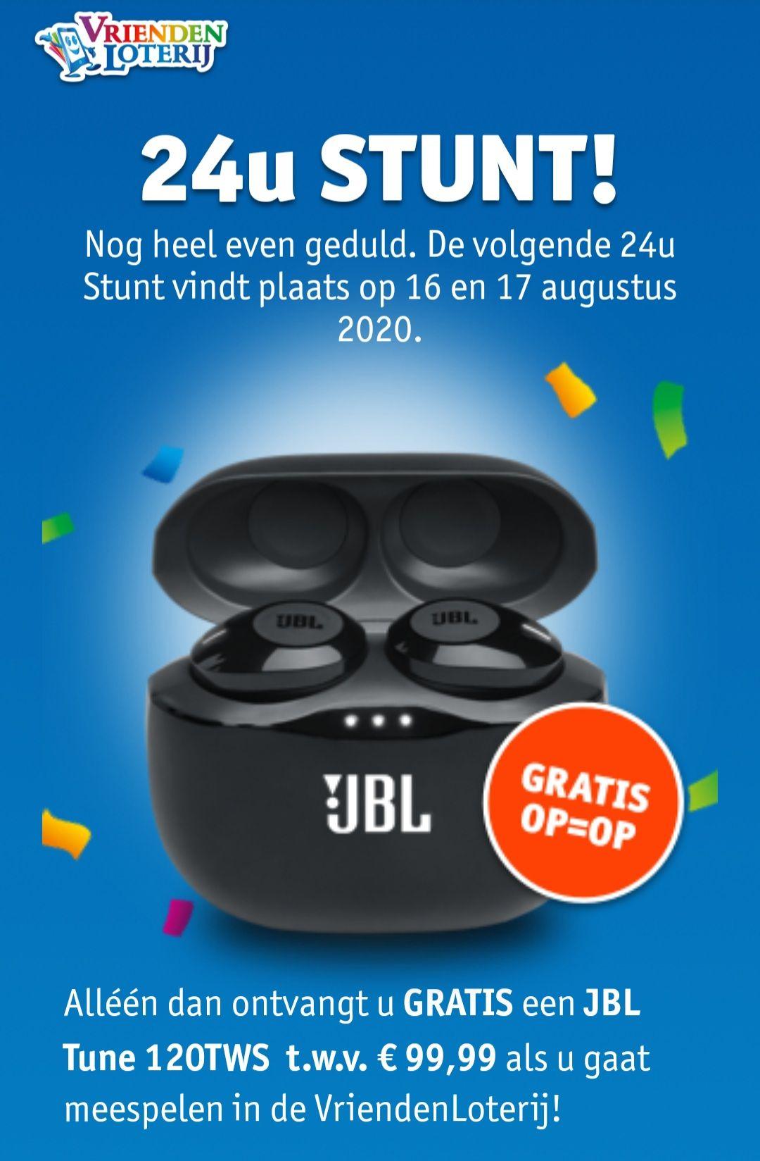 24 uurs actie Vriendenloterij JBL Tune 120TWS
