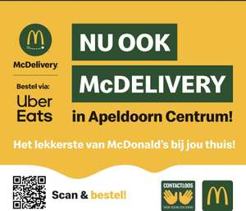 McDelivery via uber eats Apeldoorn [lokaal]