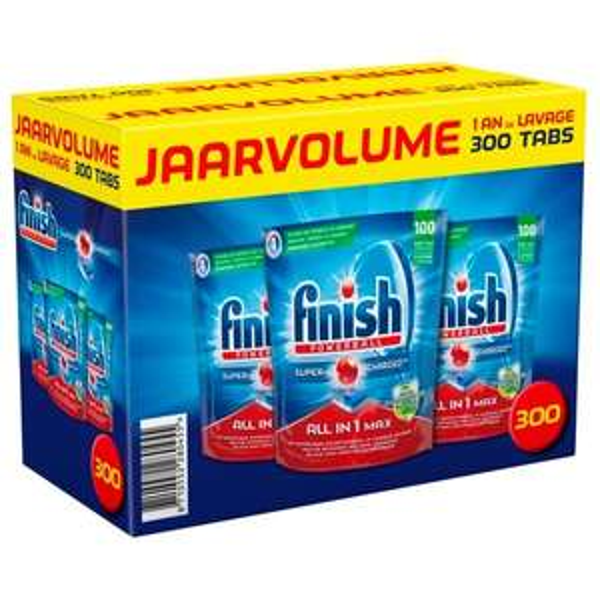 Finish Powerball All-in-1 Vaatwastabletten 300 tabletten
