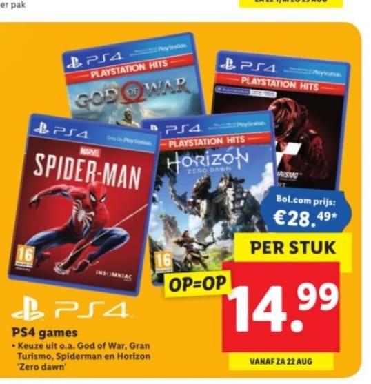 PlayStation 4 games @ Lidl vanaf 22 augustus