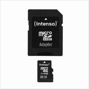 Intenso microSDHC Class 10 + SD adapter 32GB voor €9,95