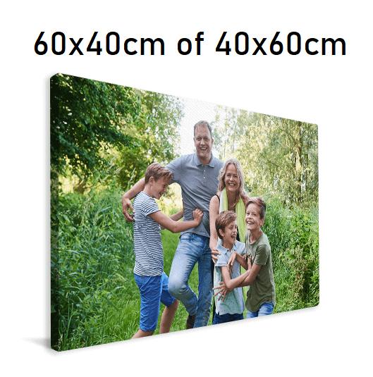 €9,95 inclusief verzenden: Canvas 60x40cm of 40x60cm met eigen foto