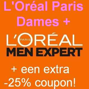 -10% + -25% op L'Oréal Paris (Dames) & Expert (Heren) produkten - Amazon DE