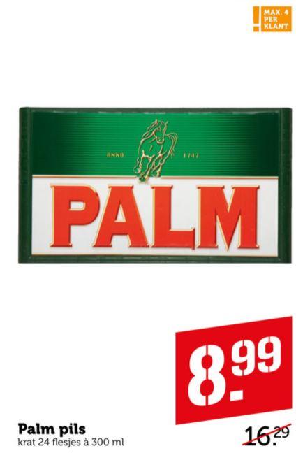 Krat Palm bier voor €8,99 @Coop