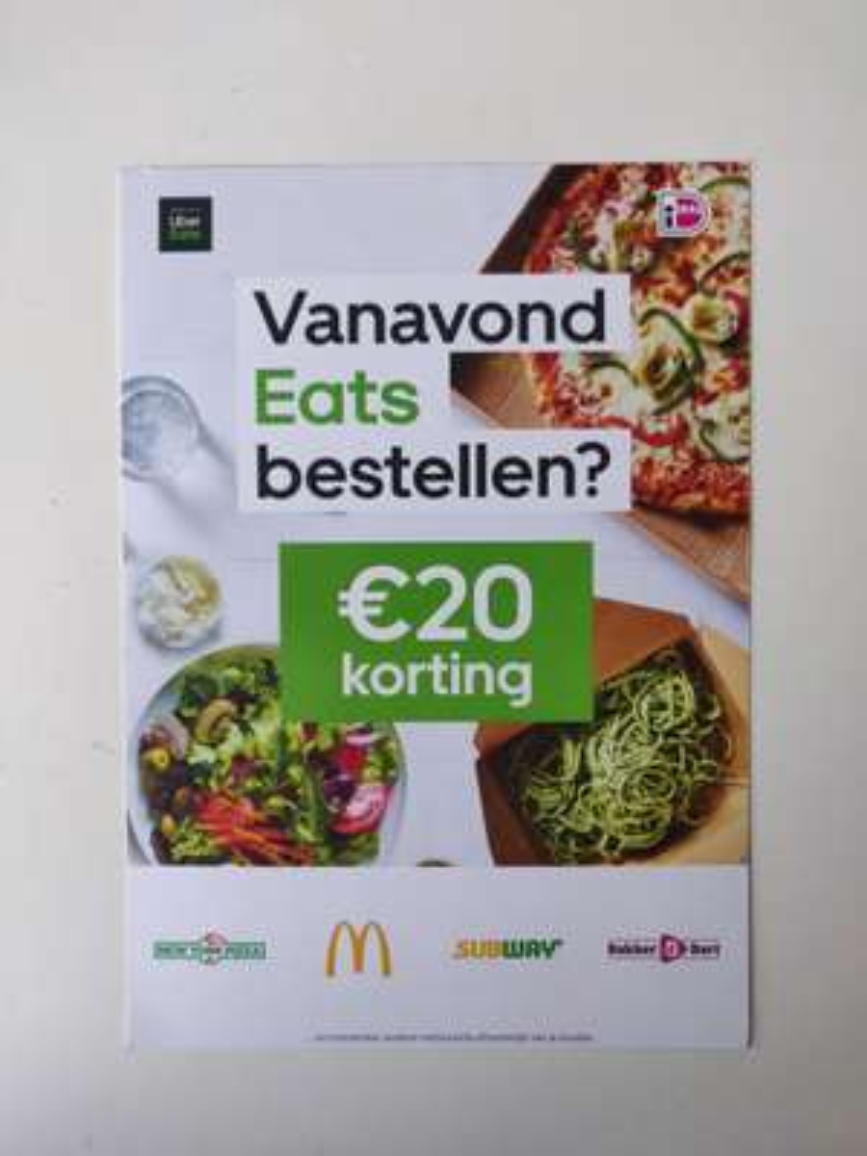 2x €10 korting voor nieuwe gebruikers van Uber Eats (Omgeving Arnhem)