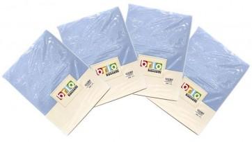 4-Pack Brio Bassetti - Hoeslaken 100% Katoen Blauw 90/100 X 190/200 voor €9,95 inclusief verzending bij Dagknaller