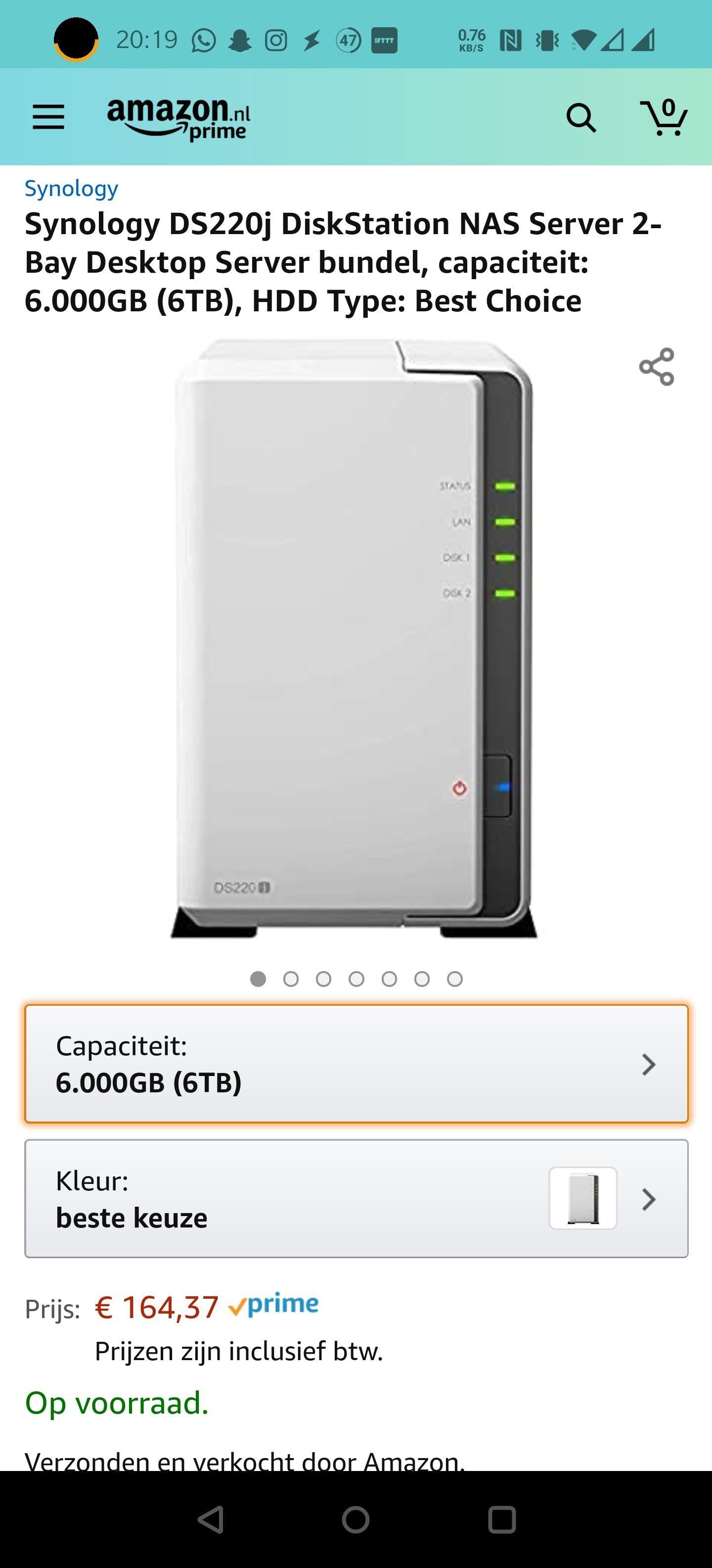 DS220J met 6TB