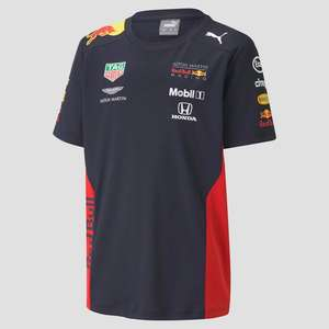 PUMA ASTON MARTIN - RED BULL RACING TEAM SHIRT BLAUW