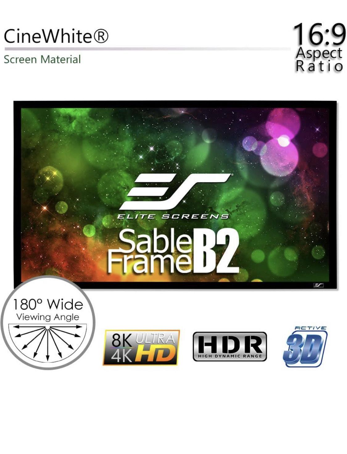 """Elite screens sable frame b2 110"""" vast projectiescherm"""