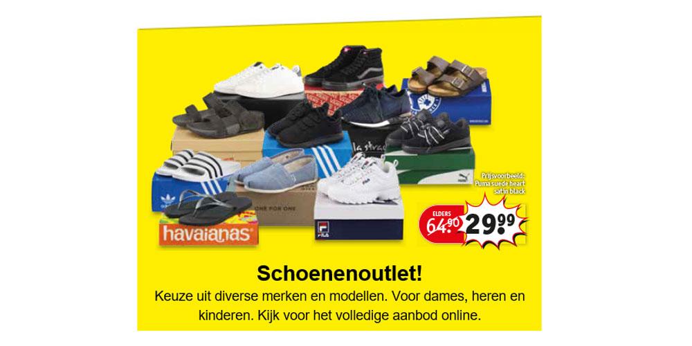 Schoenen Outlet - merken als adidas, Nike, Puma