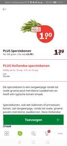 Kilo Hollandse Sperziebonen @ PLUS