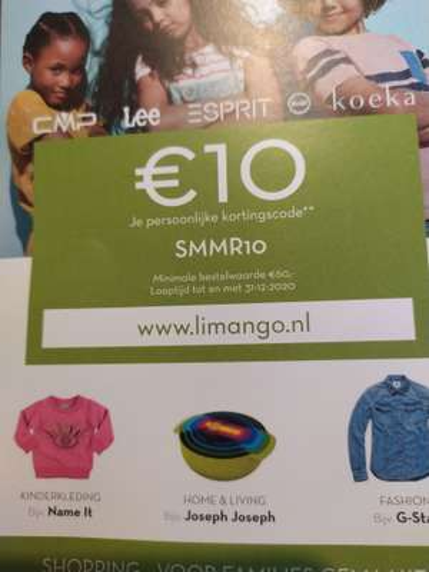 Limango.nl €10 korting bij minimale besteding van €60