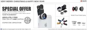 3-in-1 Clip-on Mobile Phone Camera Lens Kit voor 1 dollar @ Zapals