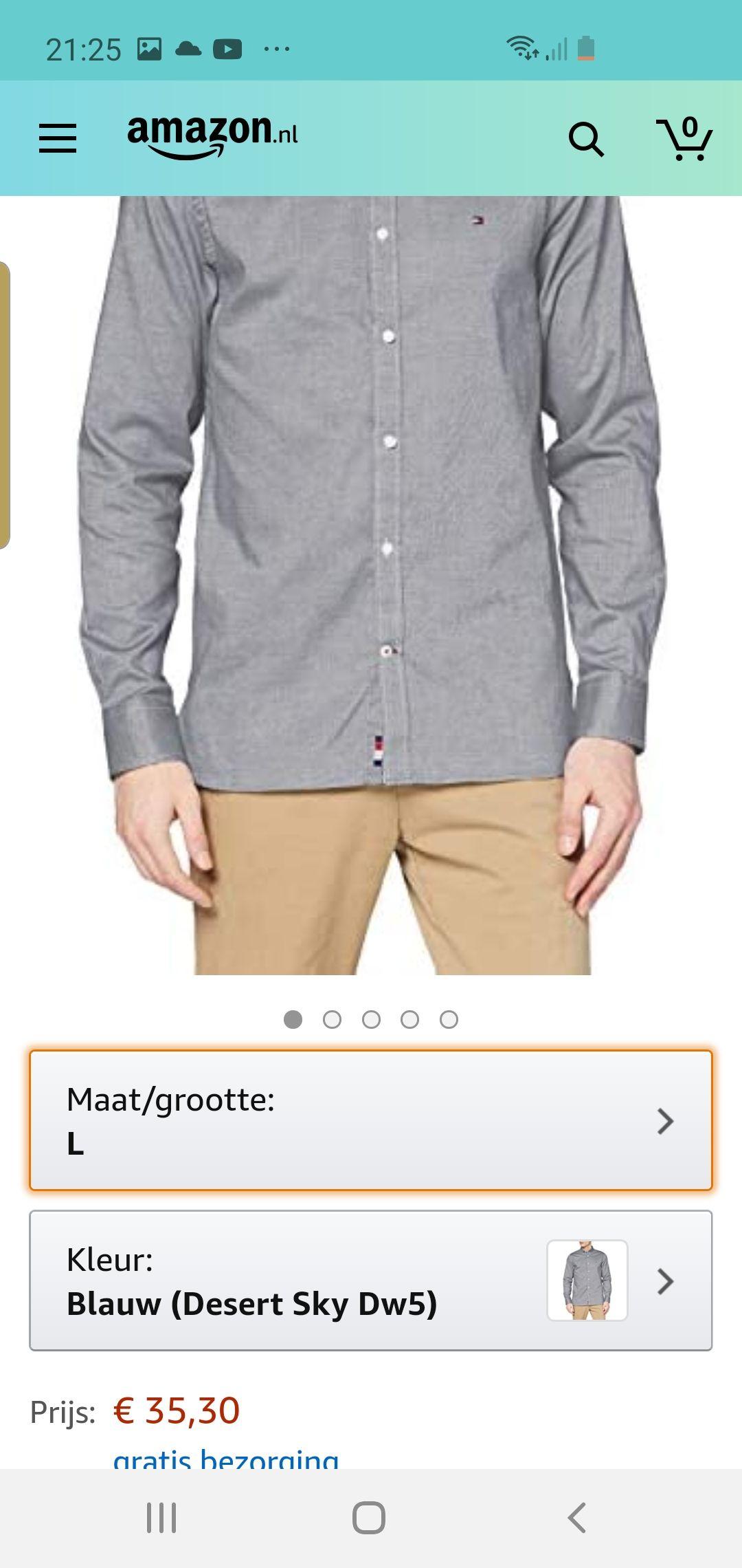 Tommy hilfiger overhemd amazon.nl