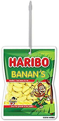 Haribo auto luchtverfrisser. Banan's