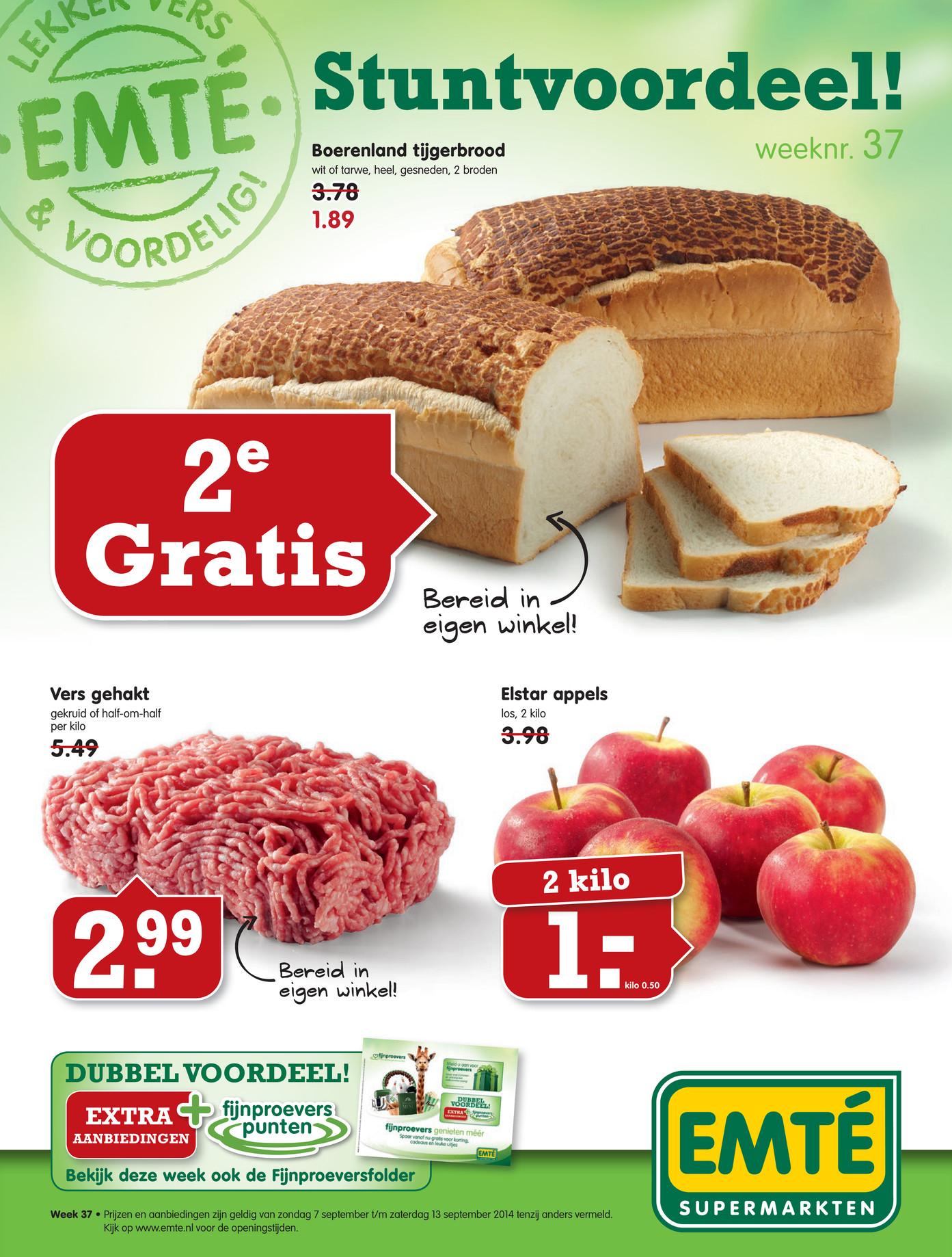 Tweede brood gratis @ Emté / AH