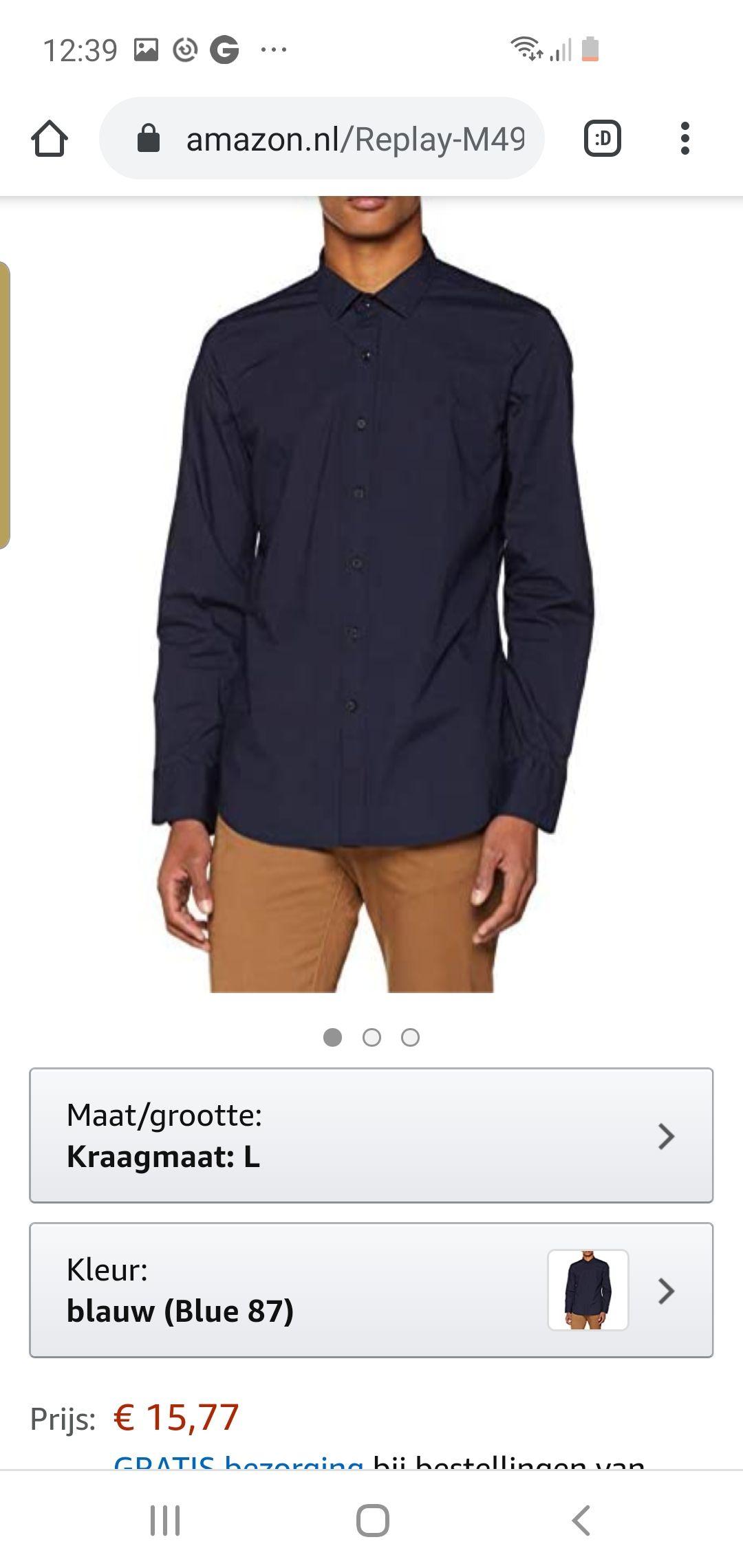 Replay overhemd alle maten amazon.nl