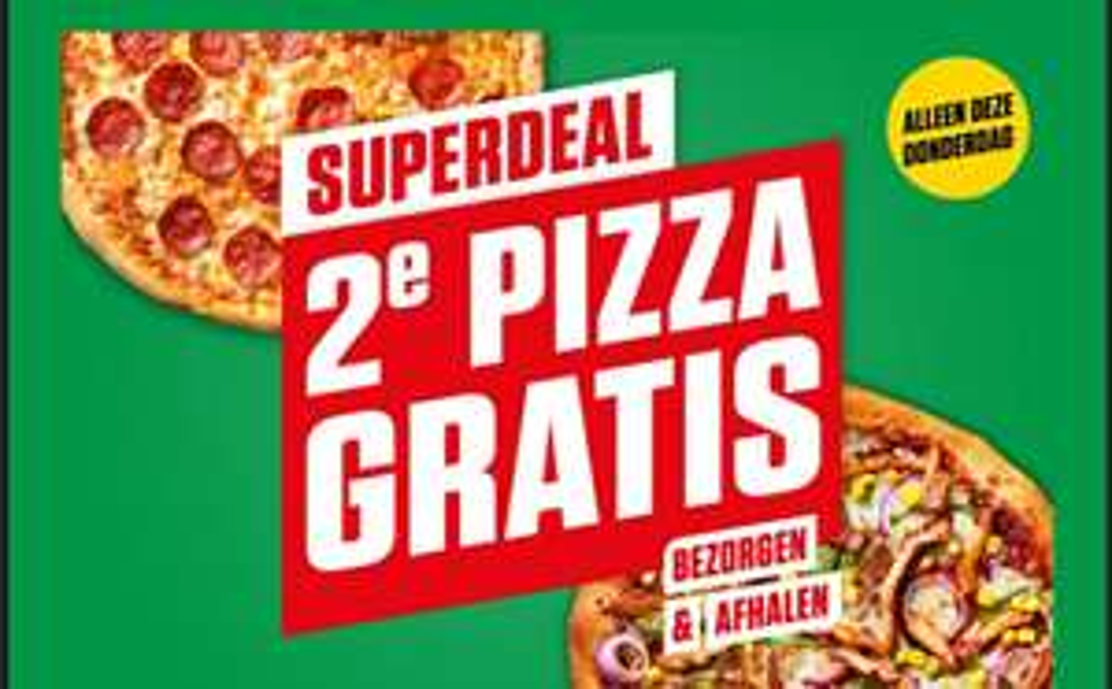 2e pizza gratis op donderdag 20 augustus @ New York Pizza