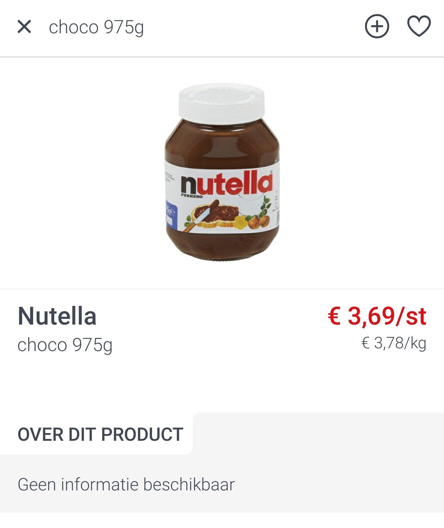 [GRENSDEAL BELGIË] zeer goedkope Nutella (€3,78 per kg)