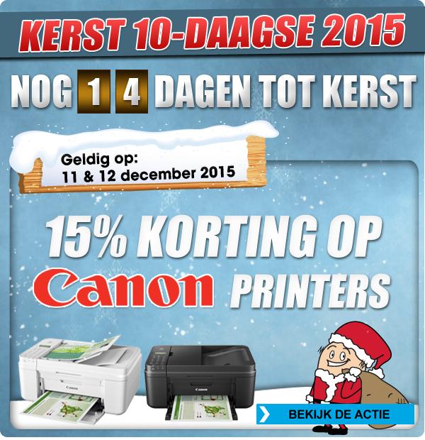 15% korting op Canon printers + cashback @ Bobshop