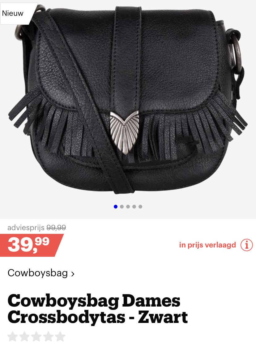 Cowboybag dames crossbodytas