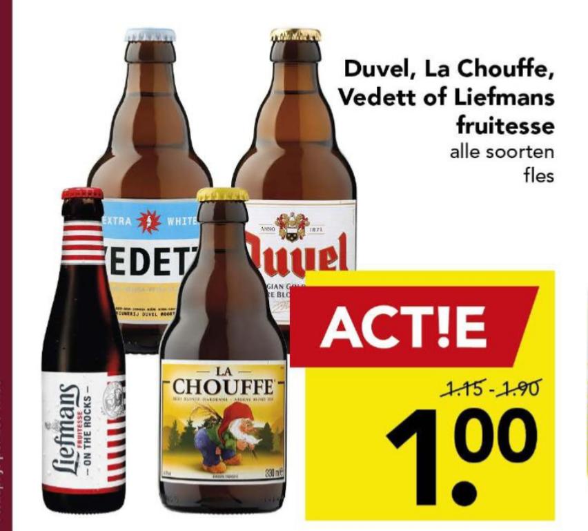 [DEEN] Alle Vedett, Duvel, Liefmans en La Chouffe €1