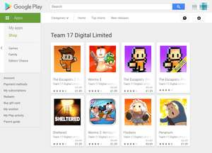 [Android] Team 17 Digital games 50-75% korting (The Escapists, Worms, Penarium) @Google Play Store