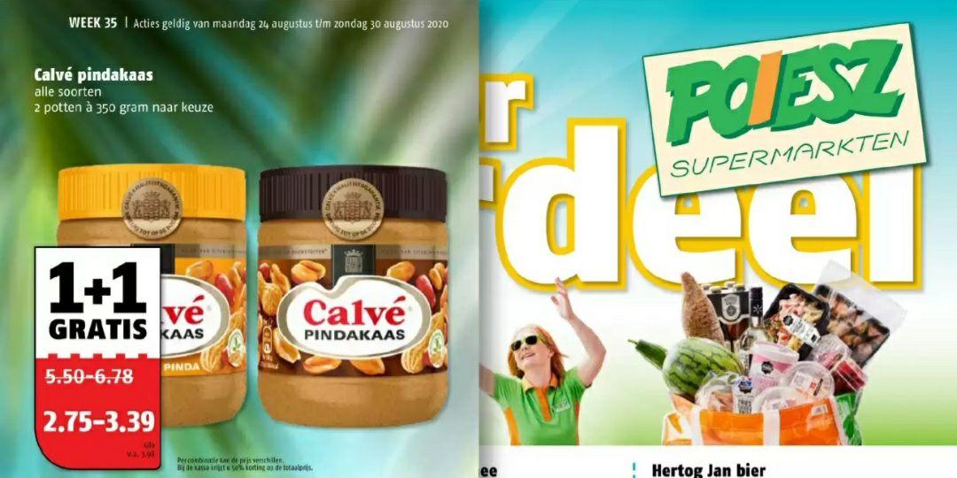 Calve Pindakaas 1+1 Gratis