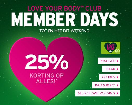 25% korting op alles + GRATIS verzending @ The Body Shop