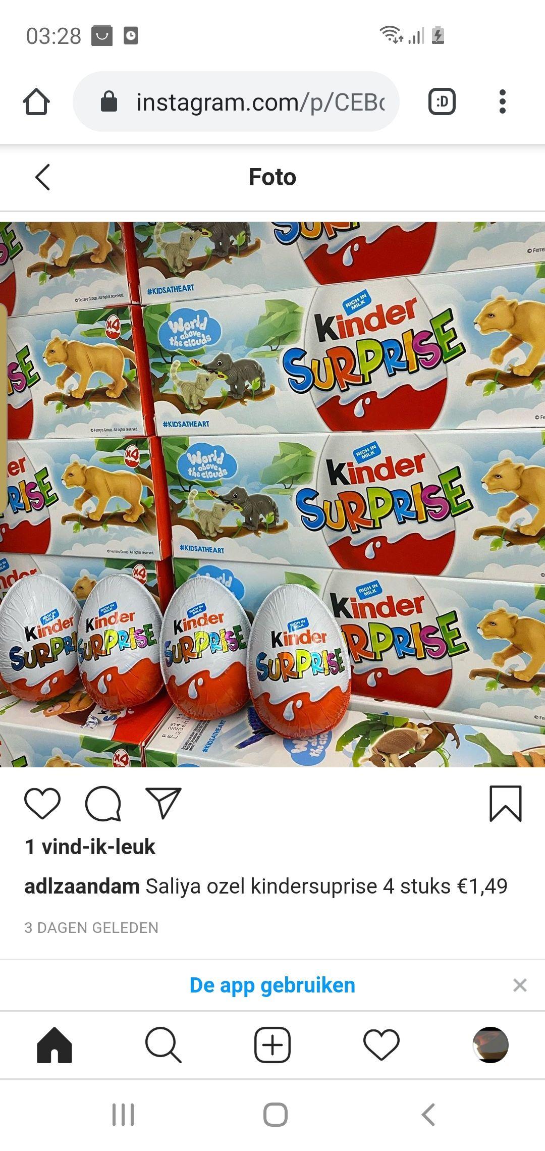 Lokaal ADL supermarkt zaandam/ kinder eieren/ferrero rocher chocolade