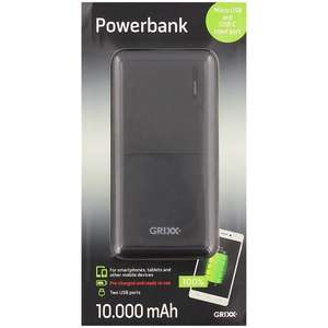 Grixx 10,000mAh powerbank @ Action met micro & USB-C port