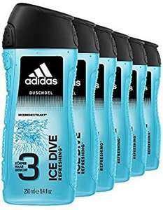6x 250ml Adidas Ice Dive 3 in 1