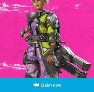 Gratis special Rampart Skin voor game Apex Legends (Prime only)