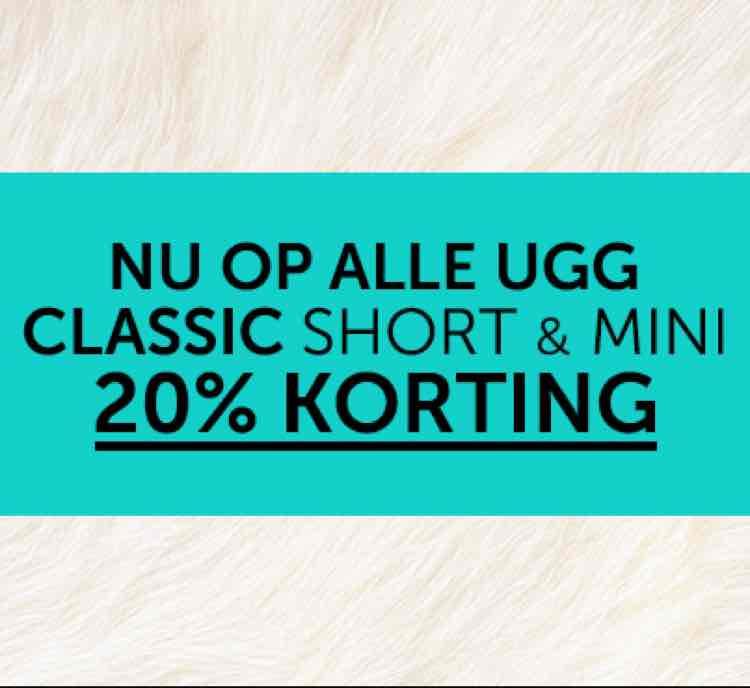 20% korting UGG schoenen