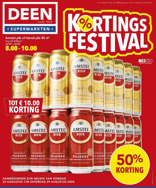 Amstel pils of Blond pils 50cl bij Deen