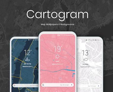 [GRATIS] Cartogram - Live Map Wallpapers & Backgrounds @ Google Play
