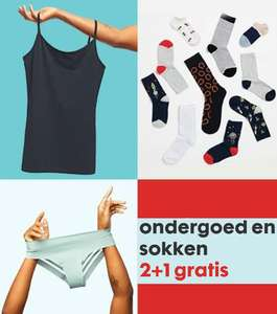 Ondergoed & sokken - 2+1 gratis @ HEMA