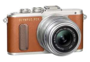 Olympus PEN E-PL8 + 14-42mm f/3.5-5.6 Systeemcamera Bruin @ Media Markt