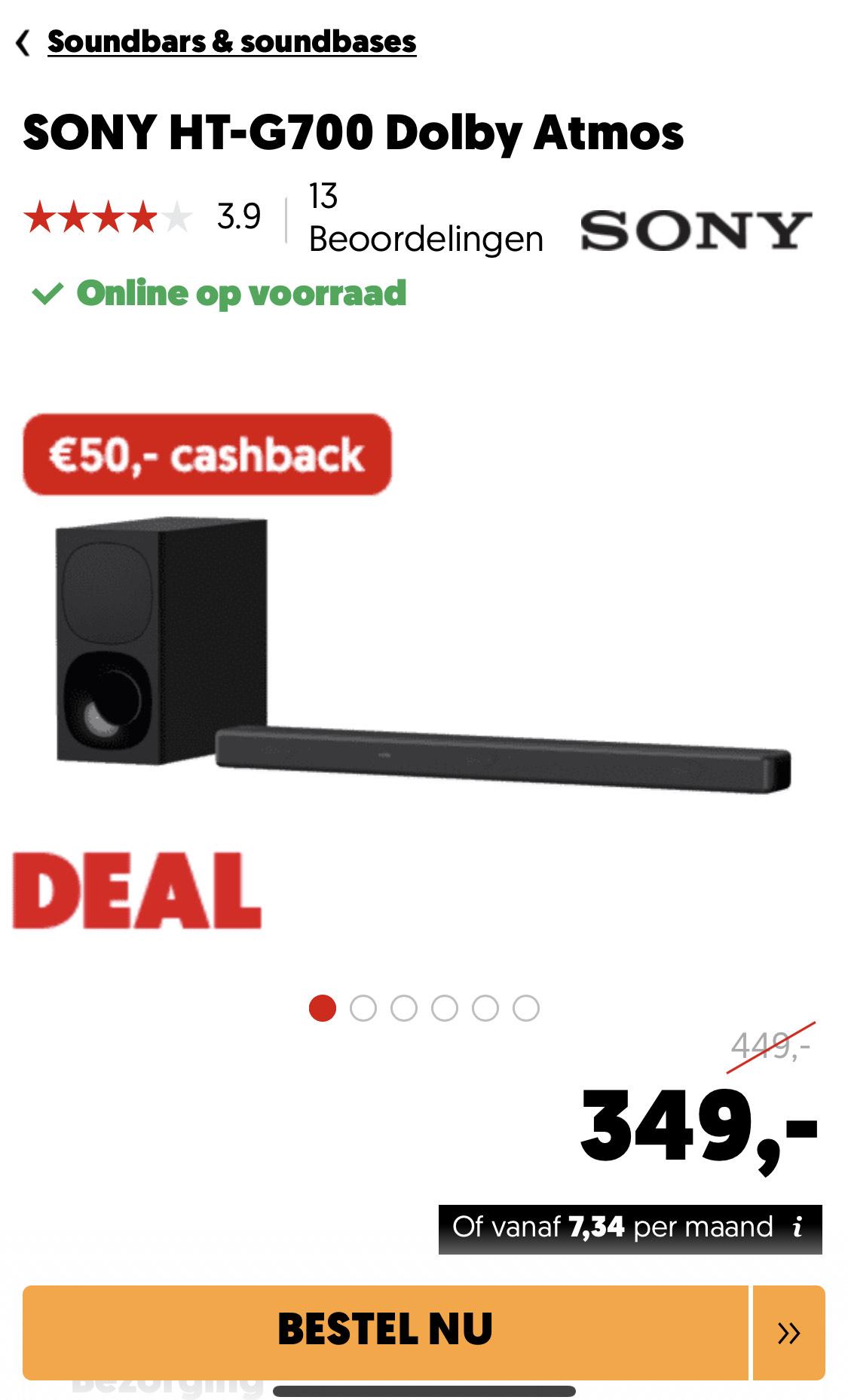 Sony ht-g700 3.1 dolby Atmos soundbar