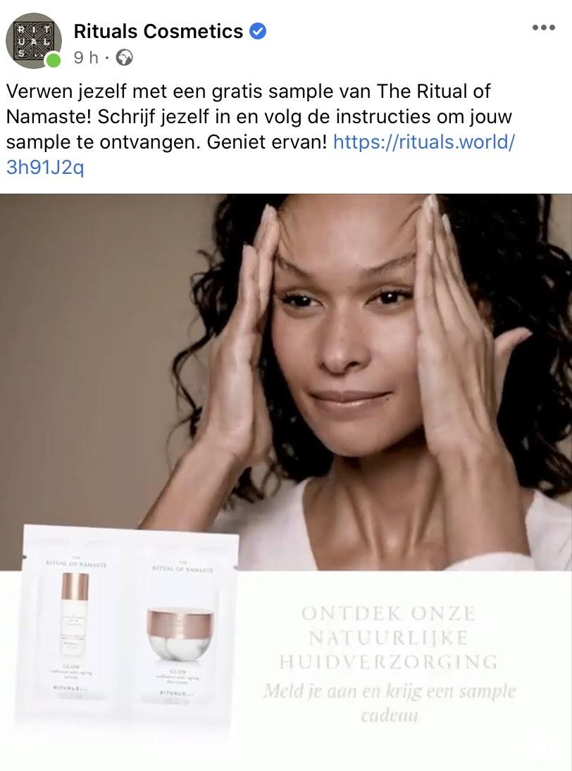Gratis Rituals of Namaste gezichtsverzorging sample