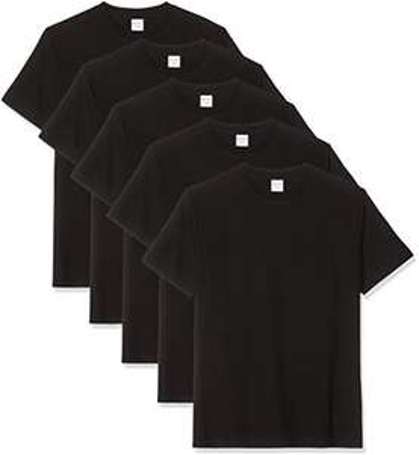 Luigi Bottoni Herren, 5-Pack T-Shirts (wit/zwart + verschillende maten)