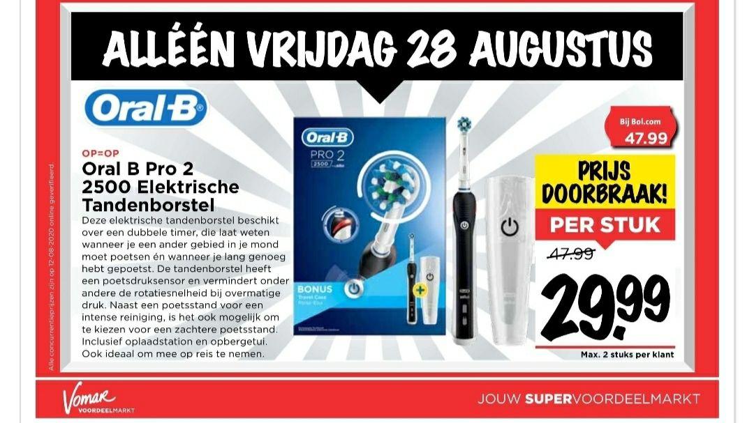 Oral b Pro 2 2500 Electrische tandenborstel