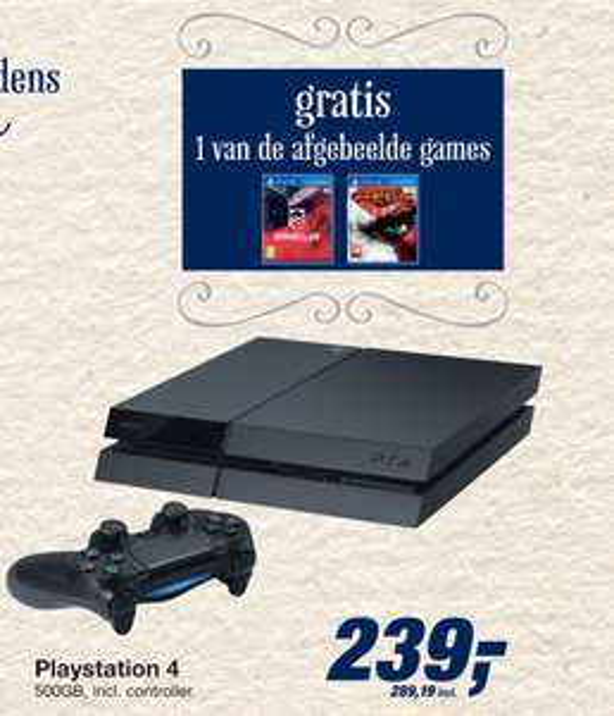 [REMINDER] PlayStation 4 Console (500GB) met Driveclub of God of War III voor €289,19 @ Makro (vanaf woensdag)