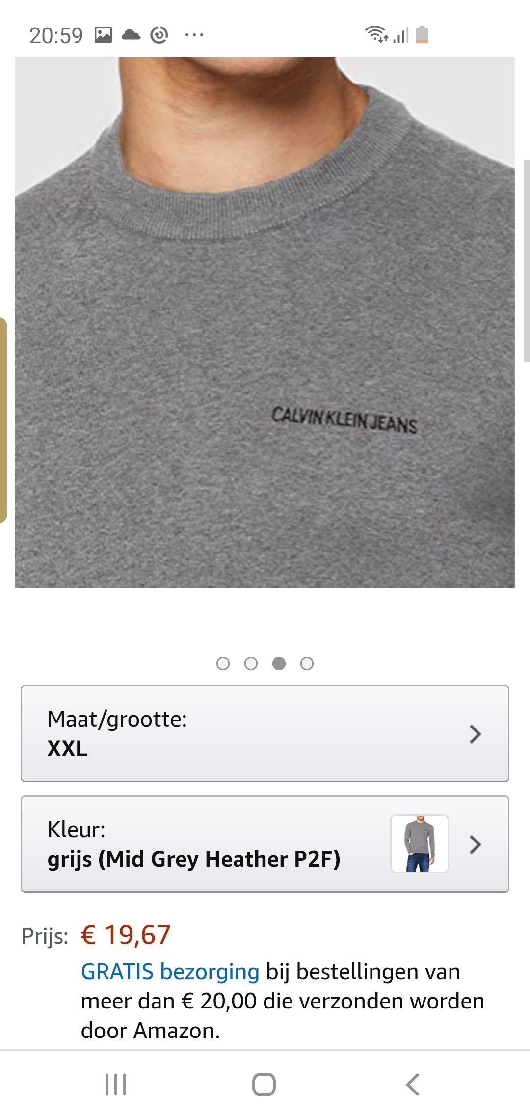 Calvin klein jeans trui amazon.nl