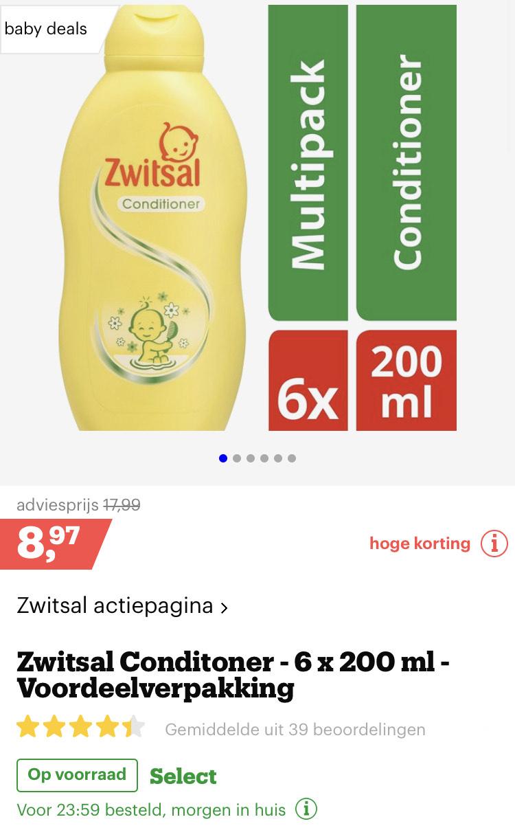 6 stuks zwitsal conditioner. €8,97 [bol.com]