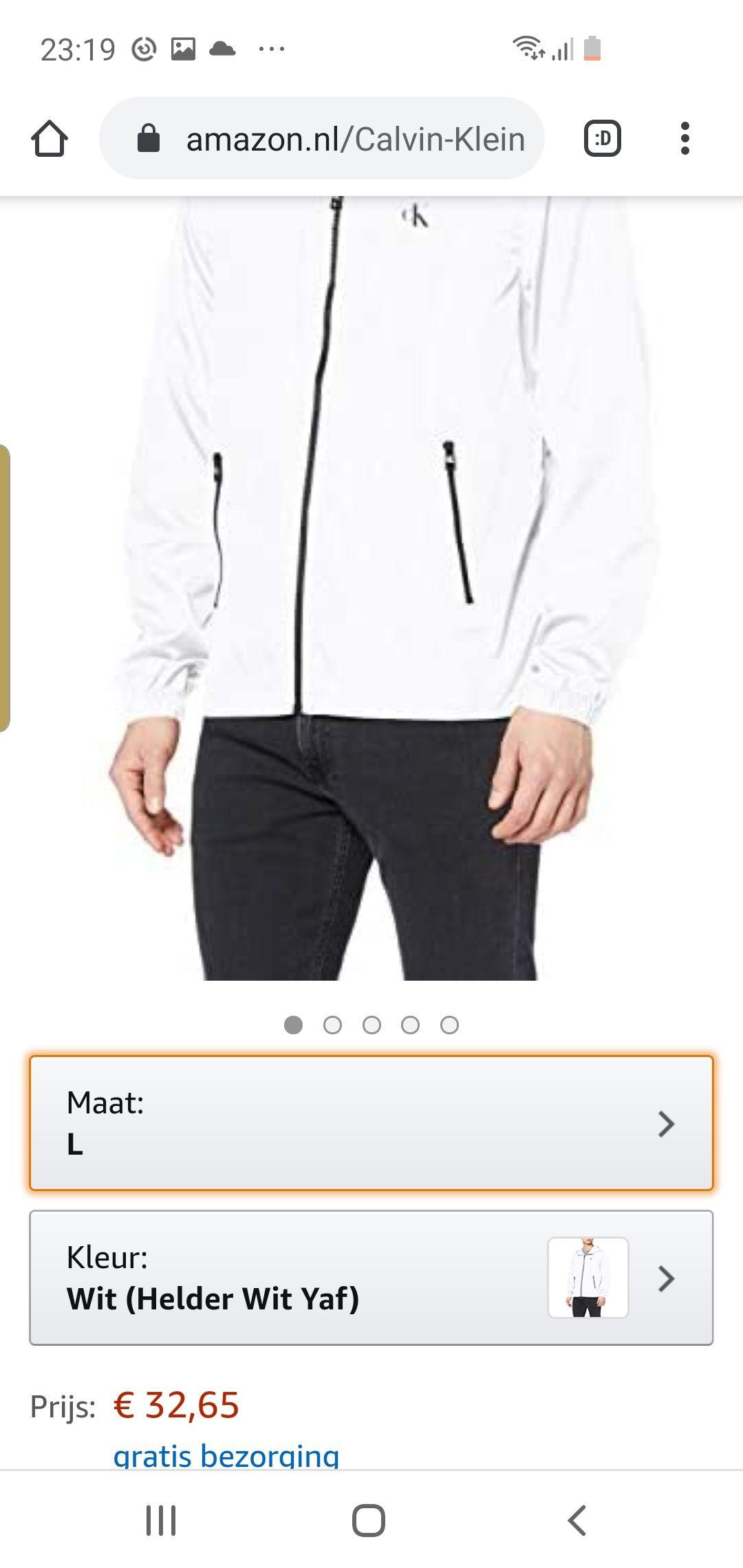 Calvin klein jeans jasje amazon.nl
