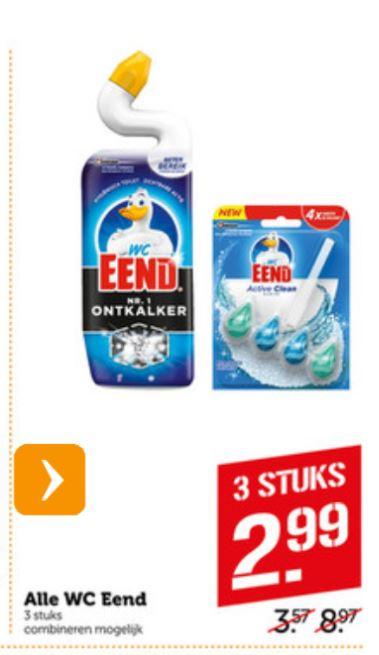 Alle WC Eend 3 stuks voor €2,99 @Coöp